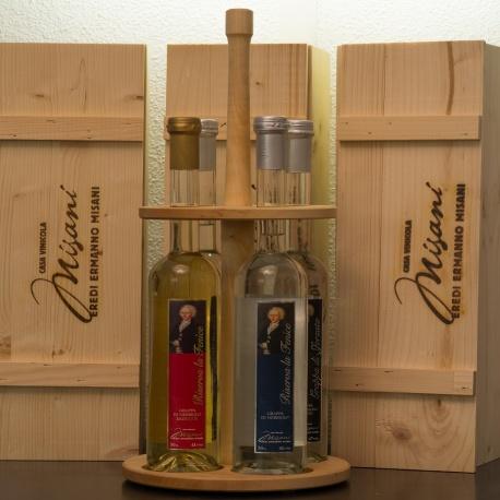 Flaschenkarusell rund für 4 x 50 cl Flaschen