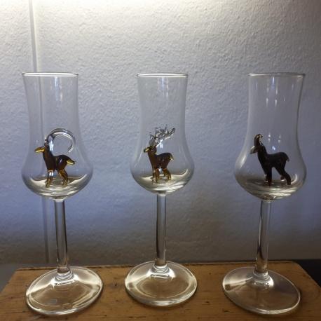 Schnapsglas mit Steinbock